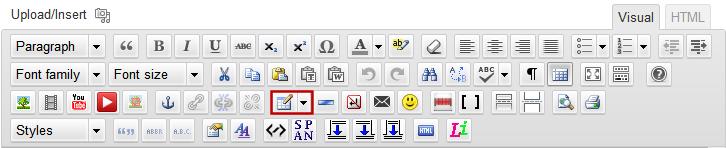 Editor Insert Table