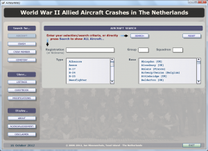 AirWarWWII Application Aircraft Search
