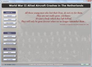 AirWarWWII Application Main Screen