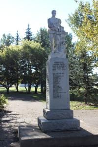 Unity Saskatchewan War Memorial Front