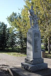 Unity Saskatchewan War Memorial Front Left