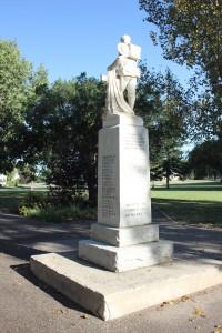 Unity Saskatchewan War Memorial Back Right