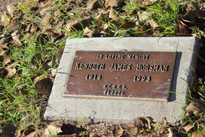 Memorial to Kenneth James Horsman