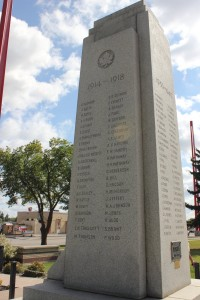 Lloydminster War Memorial Right Side