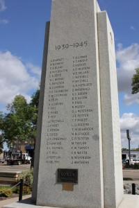 Lloydminster War Memorial Back