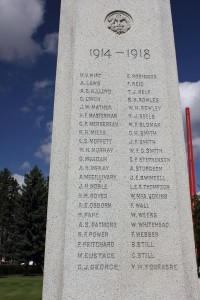 Lloydminster War Memorial Left Side