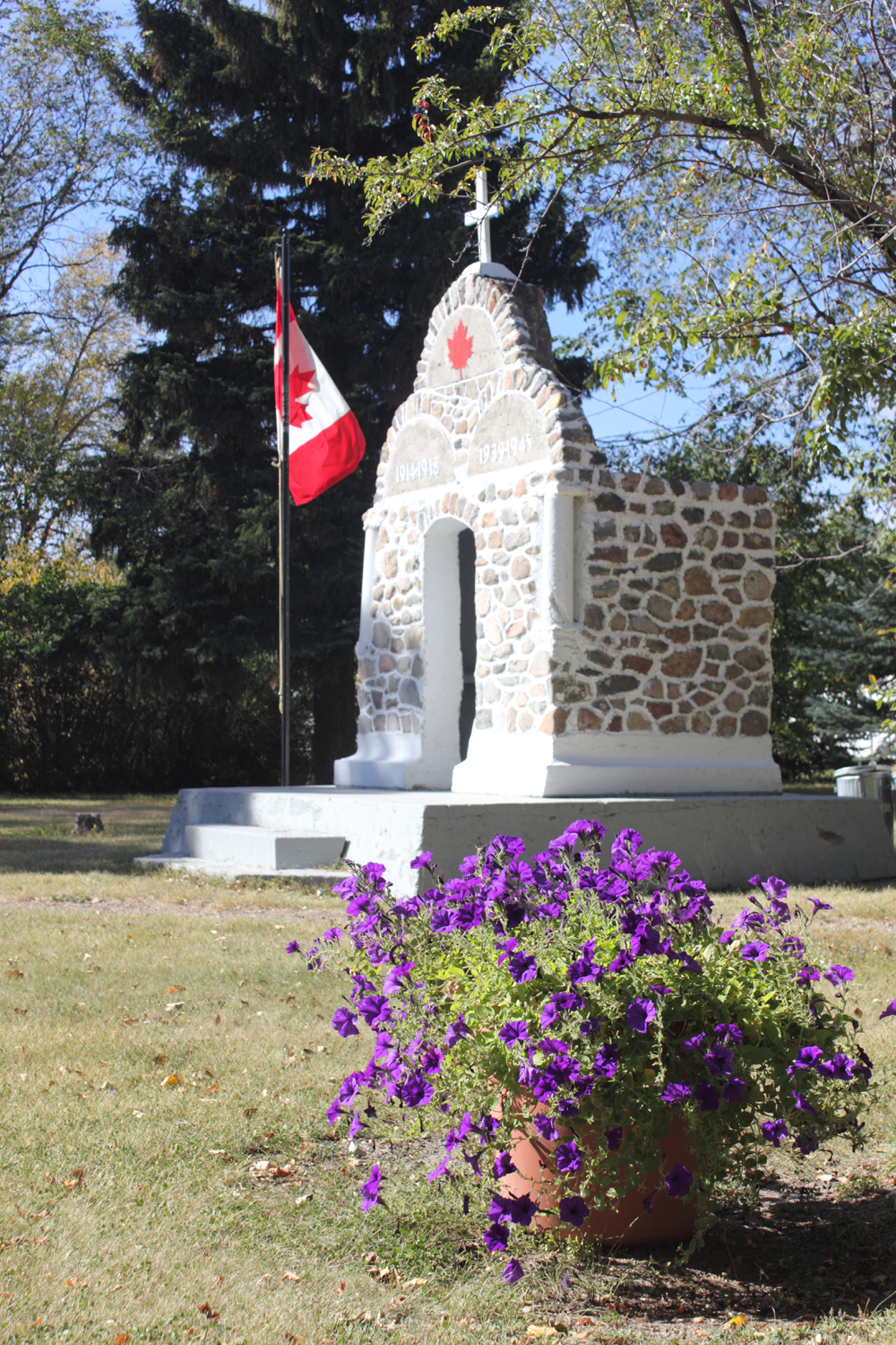 Veteran's Centennial Park and Cenotaph. Kenaston, Saskatchewan.