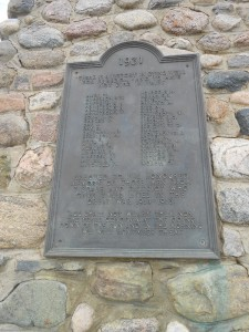 Tisdale WAr Memorial Plaque