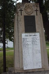 Cenotaph at Val Marie, Saskatchewan