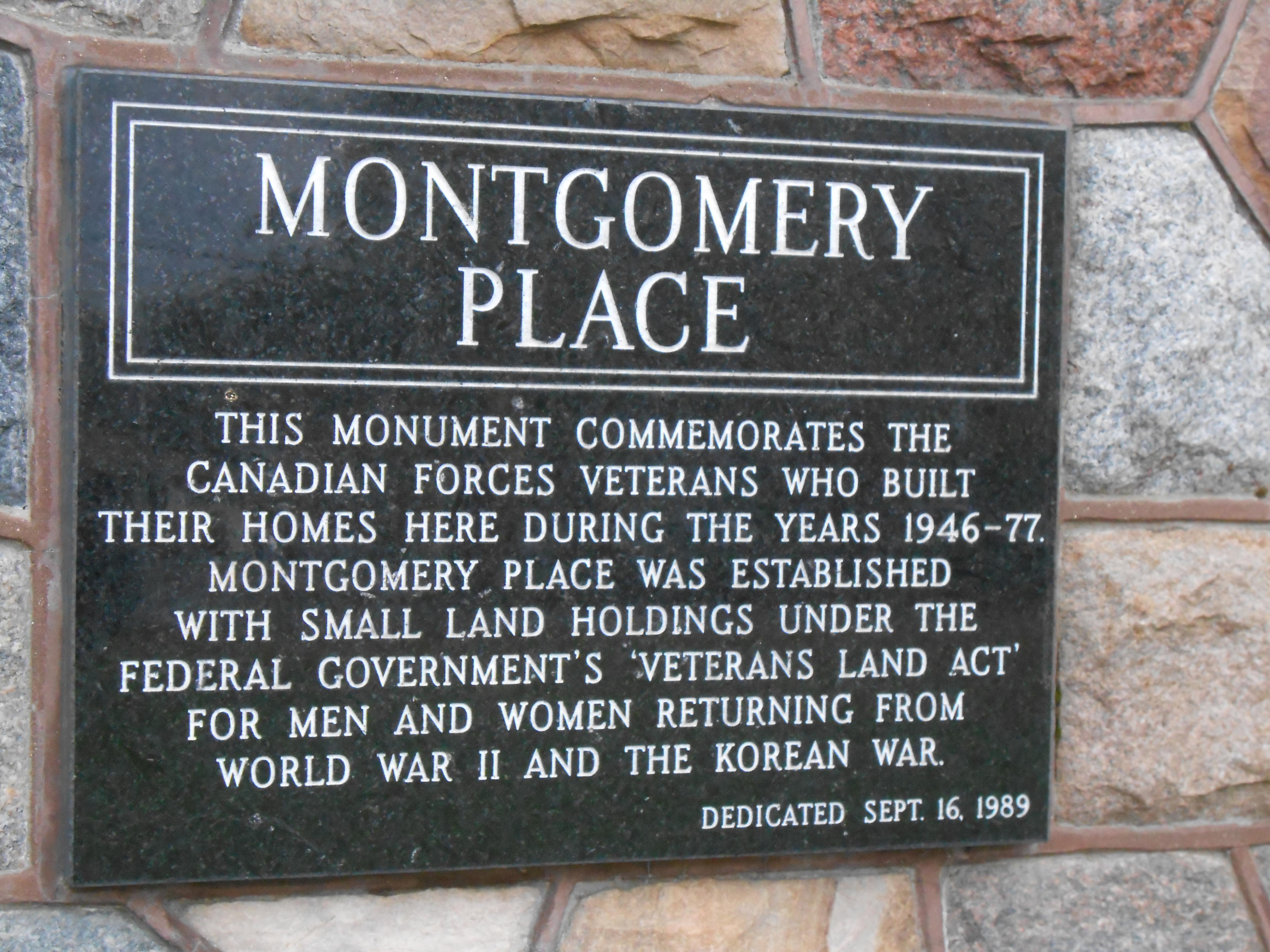Montgomery Place Monument, Saskatoon, Saskatchewan
