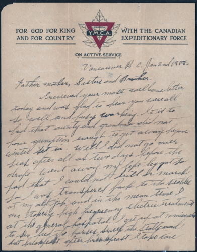 A Soldier's Letter Home - Page 1