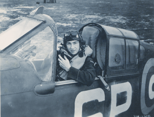 Grant in His Spitfire