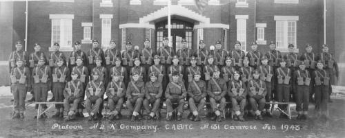 "Platoon No. 2 ""A"" Company C.A.B.T.C. No. 131 Camrose"