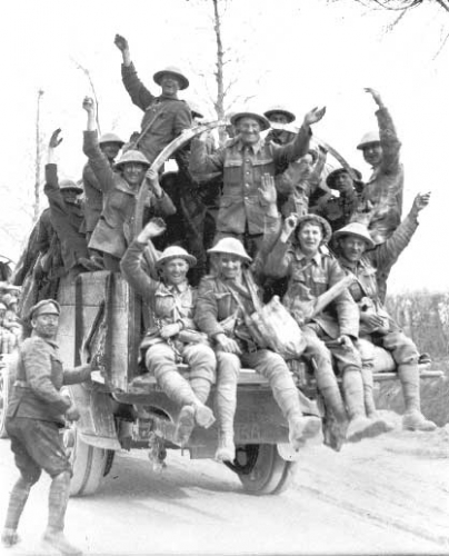 Soldiers on Truck